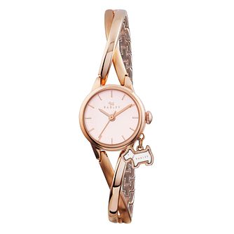 Radley Ladies' Rose Gold Plated Twist Half Bangle Watch - Product number 2779994