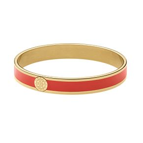 Dyrberg Kern Yellow Gold Plate & Red Enamel Slim Bangle - Product number 2787288