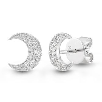 Neil Lane Designs Silver Moon Diamond Stud Earrings - Product number 2787660