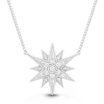 Neil Lane Designs Silver Star Diamond Pendant - Product number 2787741