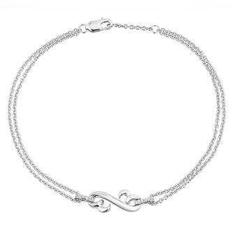 Open Hearts by Jane Seymour Silver Diamond Bracelet - Product number 2788721