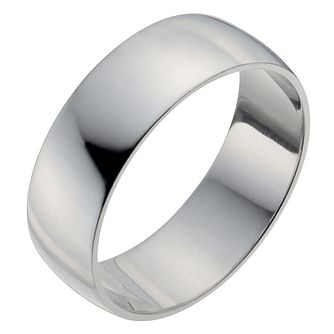 Platinum 7mm Heavy D Shape Ring - Product number 2795183