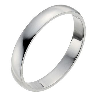 Platinum 3mm Extra Heavy D Shape Ring - Product number 2795744