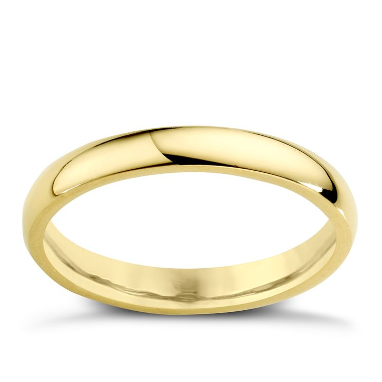 22ct Yellow Gold 3mm Super Heavy Court Ring - Product number 2796546
