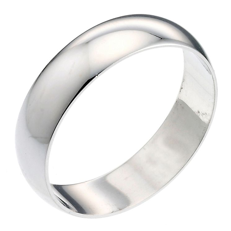 Platinum 6mm Extra Heavy D Shape Ring - Product number 2797011