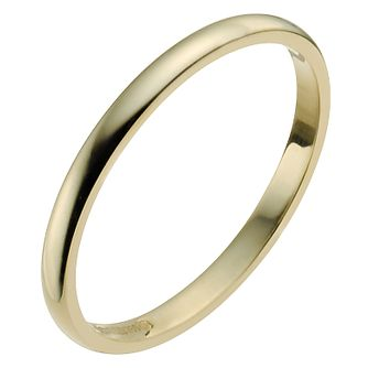 22ct Yellow Gold 2mm Extra Heavy D Shape Ring - Product number 2799650