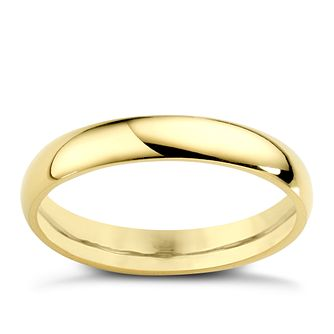 22ct Yellow Gold 3mm Extra Heavy D Shape Ring - Product number 2799898