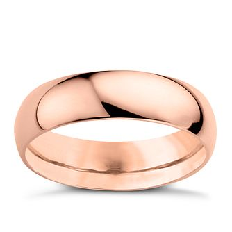 22ct Yellow Gold 5mm Extra Heavy D Shape Ring - Product number 2800373