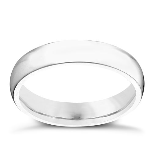 Platinum 4mm Super Heavy Court Ring - Product number 2801531