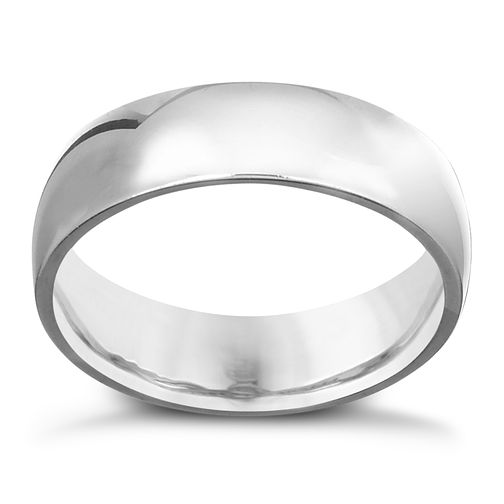Palladium 950 6mm Extra Heavy Court Ring - Product number 2805316