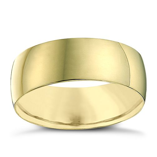 18ct Yellow Gold 7mm Heavy D Shape Ring - Product number 2808285