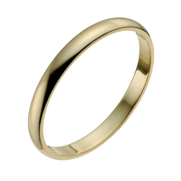 22ct Yellow Gold 2mm Heavy D Shape Ring - Product number 2809273