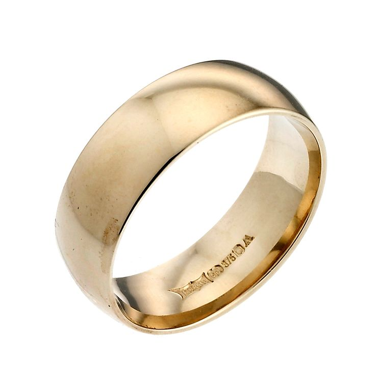 18ct Yellow Gold 7mm Extra Heavy Court Ring - Product number 2809540