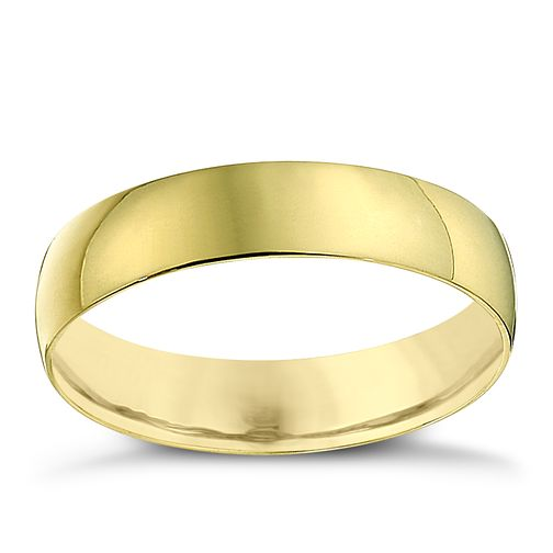 22ct Yellow Gold 4mm Heavy D Shape Ring - Product number 2810522