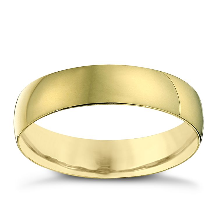 22ct Yellow Gold 5mm Heavy D Shape Ring - Product number 2811537