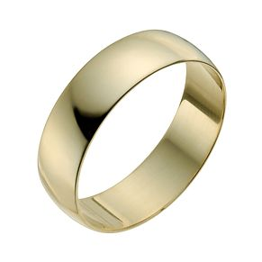 22ct Yellow Gold 6mm Heavy D Shape Ring - Product number 2812282
