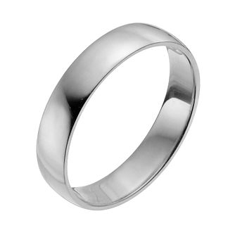 Palladium 950 4mm Heavy D Shape Ring - Product number 2813505