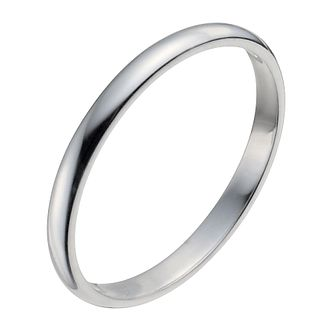 Palladium 950 2mm Extra Heavy D Shape Ring - Product number 2817373
