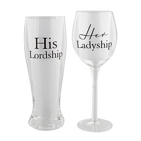 His Lordship & Her Ladyship Glasses Set - Product number 2821117