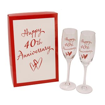 Happy 40th Anniversary Champagne Flutes - Product number 2821133