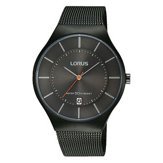 Lorus Men's Black Dial & Black Mesh Bracelet Watch - Product number 2827972