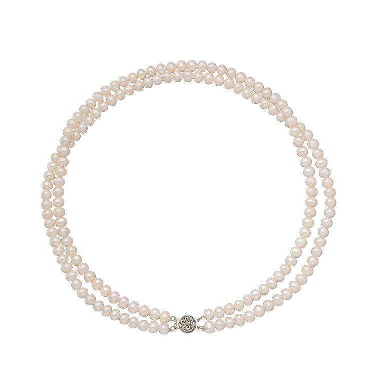 9ct yellow gold certified cultured freshwater pearl necklet - Product number 2828413