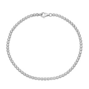 Silver and cubic zirconia tennis bracelet - Product number 2829509