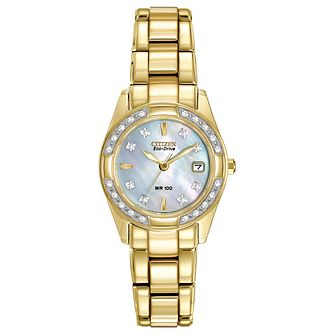 Citizen Eco-Drive Ladies' Gold-Plated Bracelet Watch - Product number 2829908