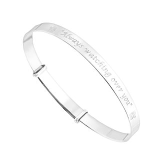 Silver inscribed children's bangle - Product number 2830140