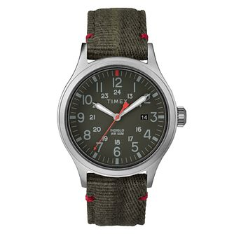 Timex Allied Men's Green Fabric Strap Watch - Product number 2832178