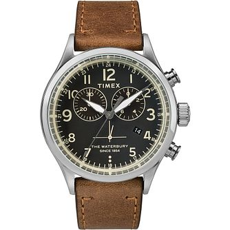 Timex Waterbury Contactless Men's Brown Leather Strap Watch - Product number 2833158