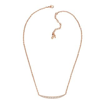 Adore Ladies' Rose Gold Plated Sapphire Curved Necklace - Product number 2833204
