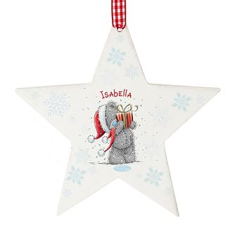 Personalised Me To You Star Present Christmas Ornament - Product number 2834391