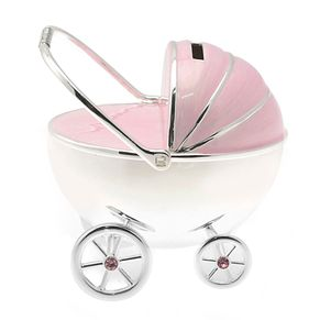 Little Princess Silver-Plated Pink Pram Money Box - Product number 2838834
