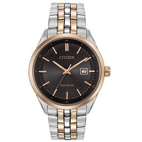 Citizen Men's Eco Drive Black Dial Two-Tone Bracelet Watch - Product number 2840472