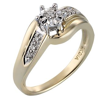 9ct Gold Diamond Ring - Product number 2840502