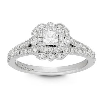 Neil Lane Platinum 0.68ct Princess Cut Diamond Ring - Product number 2843560