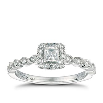 Neil Lane 14ct Platinum 0.41ct Princess Cut Diamond Ring - Product number 2844036