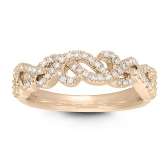 Neil Lane 14ct Yellow Gold 0.15ct Diamond Twist Vine Ring - Product number 2845431