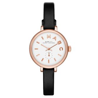 Marc Jacobs Sally Ladies' Rose Gold Tone Black Strap Watch - Product number 2846004