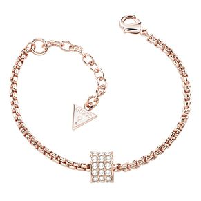 Guess Rose Gold Plated Crystal Barrel Bracelet - Product number 2852977