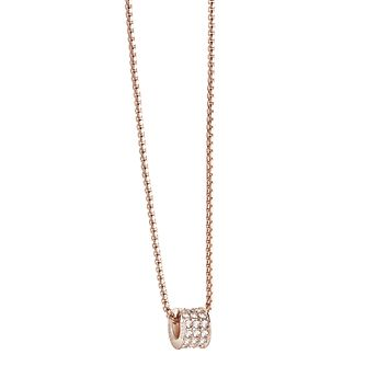 Guess Rose Gold Plated Crystal Set Charm Drop Pendant - Product number 2853035