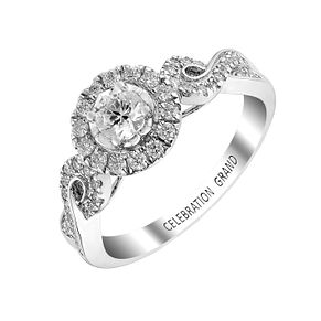 Celebration Grand 18ct White Gold Half Carat Diamond Ring - Product number 2853698