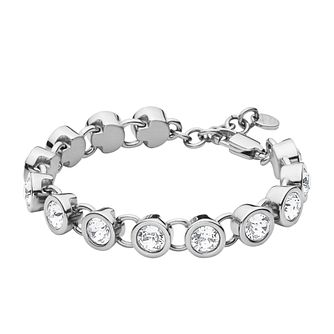 Dyrberg Kern Innis Silver Tone Crystal Tennis Bracelet - Product number 2862786