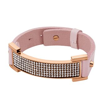 Dyrberg Kern Alva Rose Gold Tone & Pink Leather Bracelet - Product number 2862816