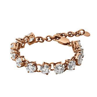 Dyrberg Kern Helice Rose Gold Tone Crystal Tennis Bracelet - Product number 2862905