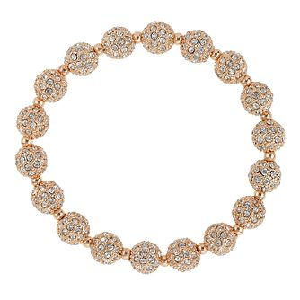 Mikey Rose Gold Tone Crystal Set Ball Bracelet - Product number 2865998