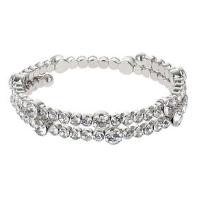 Mikey Silver Tone Clear Crystal  Bracelet - Product number 2866552