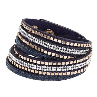Mikey Crystal & Blue Leather Wrap Bracelet - Product number 2868512