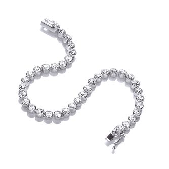 Buckley London Rhodium Plated Crystal Tennis Bracelet - Product number 2868601
